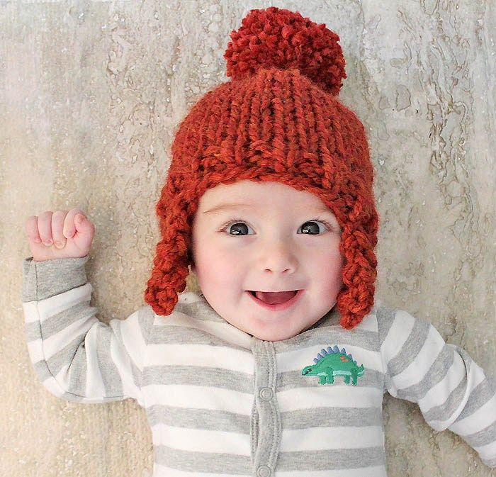 2dcd0d4c597 Free Beginner Baby Ear Flap Hat Knitting Pattern by Gina Michele