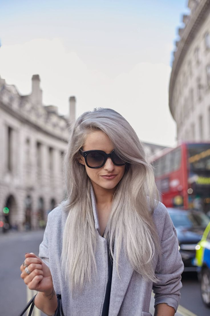 White and grey hair