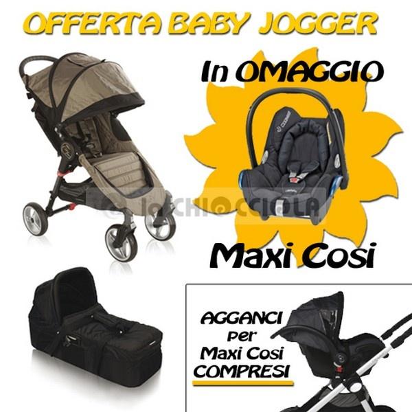 Trio Baby Jogger City Mini4 2013 a 587,90 € invece di 735 €!!  OFFERTA LIMITATA CON SEGGIOLINO AUTO MAXI COSI Cabriofix IN OMAGGIO.  http://www.lachiocciolababy.it/bambino/sand_black-5871.htm