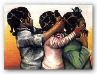 afro american art pictures | AFRICAN AMERICAN ART PRINT Thankfully God Hulis Mavruk