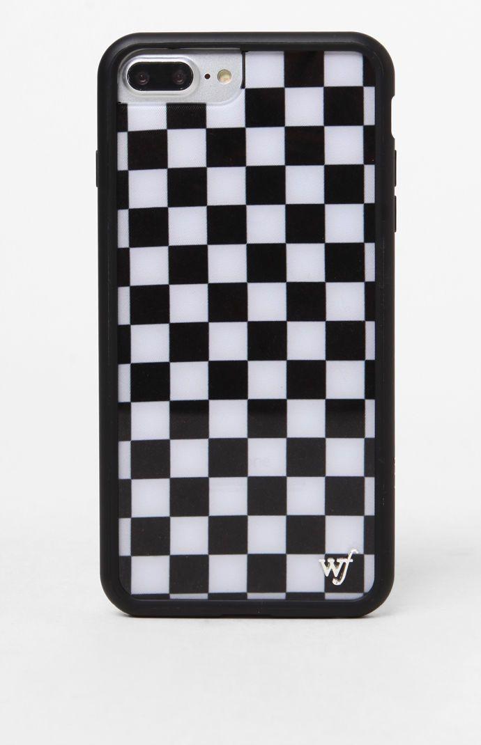 Black Checkers 6 7 8 Plus Iphone Case Black Iphone Cases Apple Phone Case Iphone Phone Cases