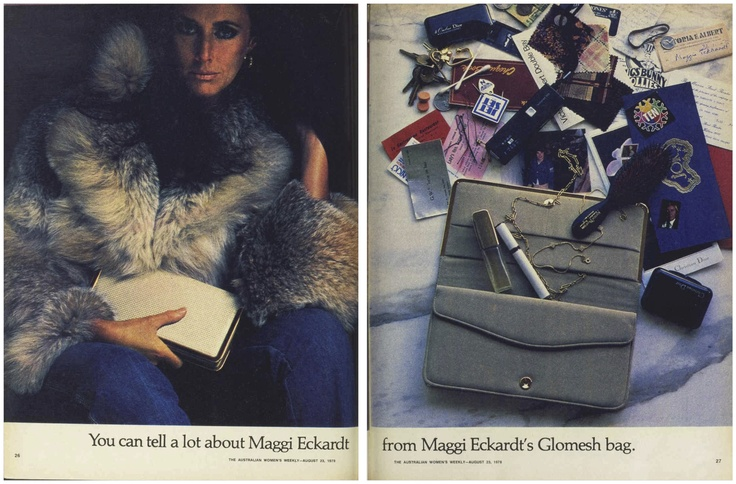 You can tell a lot about Maggi Eckardt from Maggi Eckardt's Glomesh bag... #MaggiEckardt #Glomesh