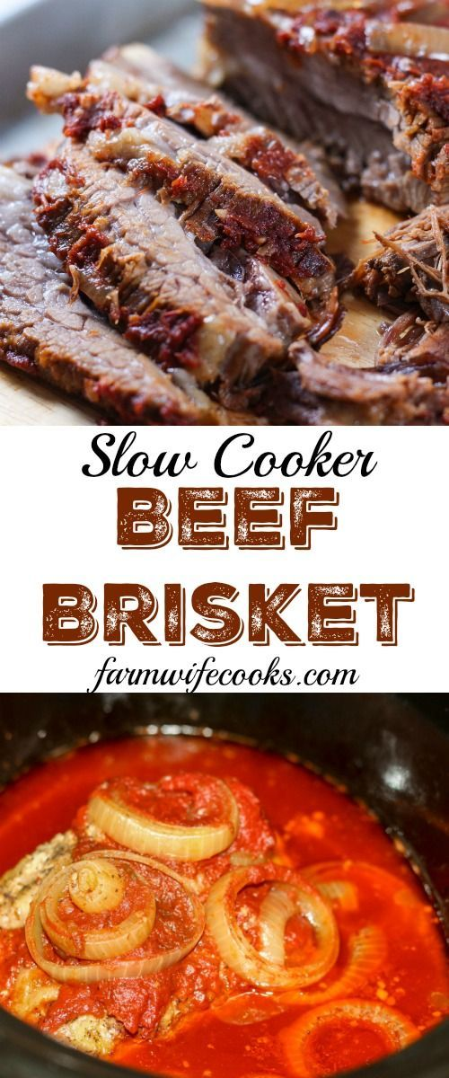 This Slow Cooker Beef Brisket is an easy recipe packed full of flavor and one the whole family will love!
