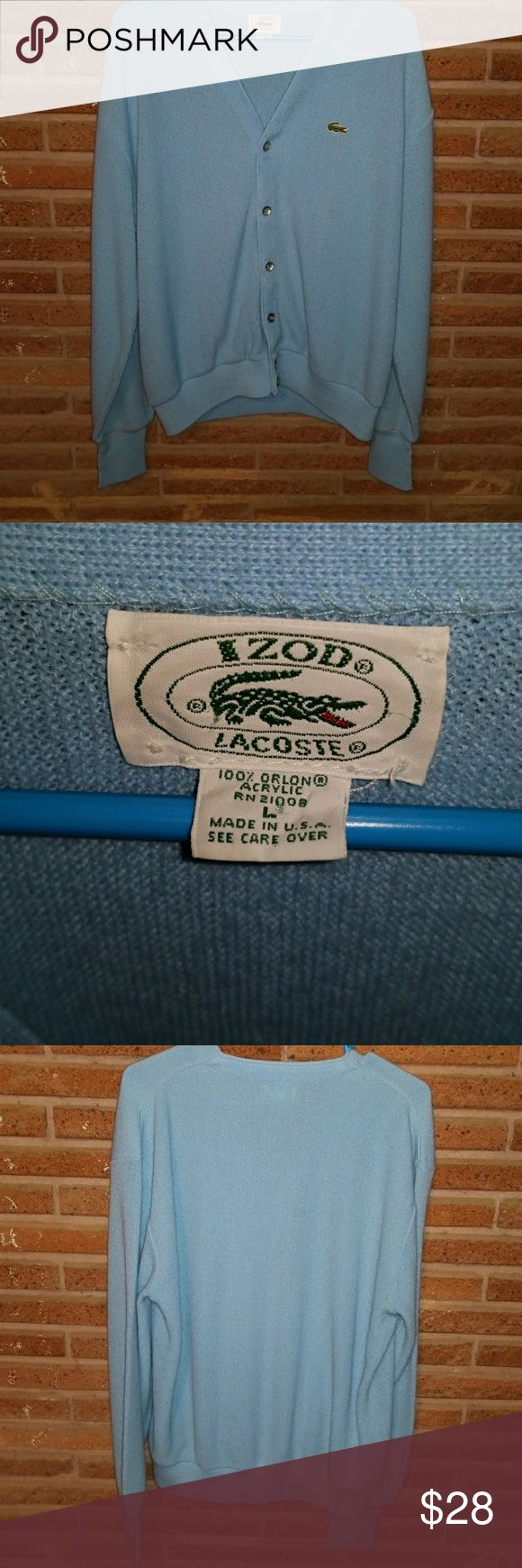 Izod Lacoste cardigan Great condition Izod Jackets & Coats