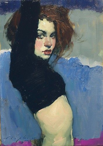 Malcolm T. Liepke (American *1953), Side View oil on canvas