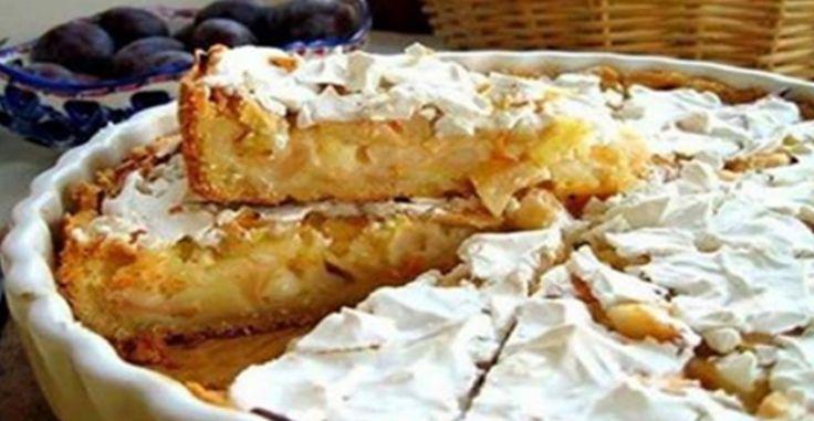Ingrediente: -1 pahar făină calitatea I, dacă trebuie puneți o cantitate mai mare; -100 g smântână; -150 g unt; -1 linguriță praf de copt. Umplutura: -200 g smântână; -1 pahar de zahăr (sau mai puțin); -1 ou; -2 linguri de făină; -4-5 mere mari, de dorit nu foarte dulci. Vezi: Măsurarea ingredientelor Mod de preparare: 1.Cerneți făina și praful de copt într-un bol. Tăiați untul bucăți mici și puneți-l peste făină. Amestecați cu degetele, astfel încât să iasă firimituri de aluat. 2.Adăugați…