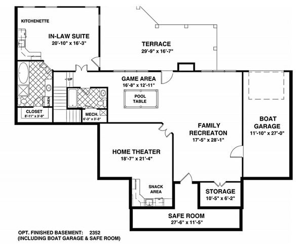 Southern Style House Plan 3 Beds 3 Baths 2156 Sq Ft Plan 56 589 Basement House Plans House Plans Country House Plan