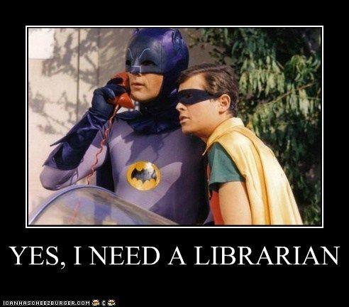 Yes, I need a librarian! Batman & Robin