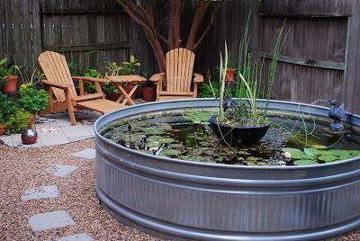 galvanized trough koi pond