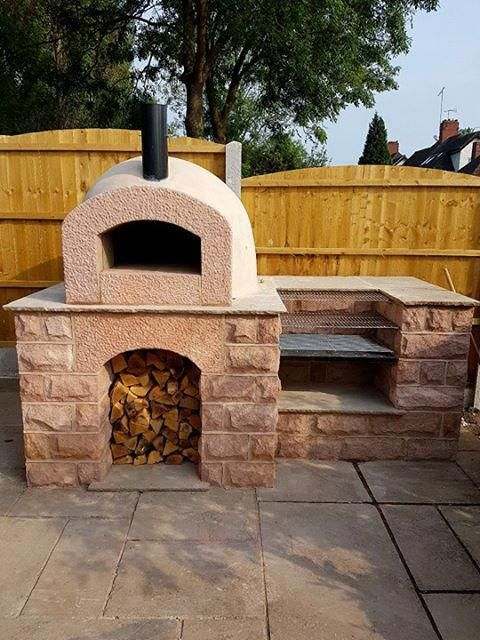 Milan 750 Pizza oven kit used with stone base and built in ...