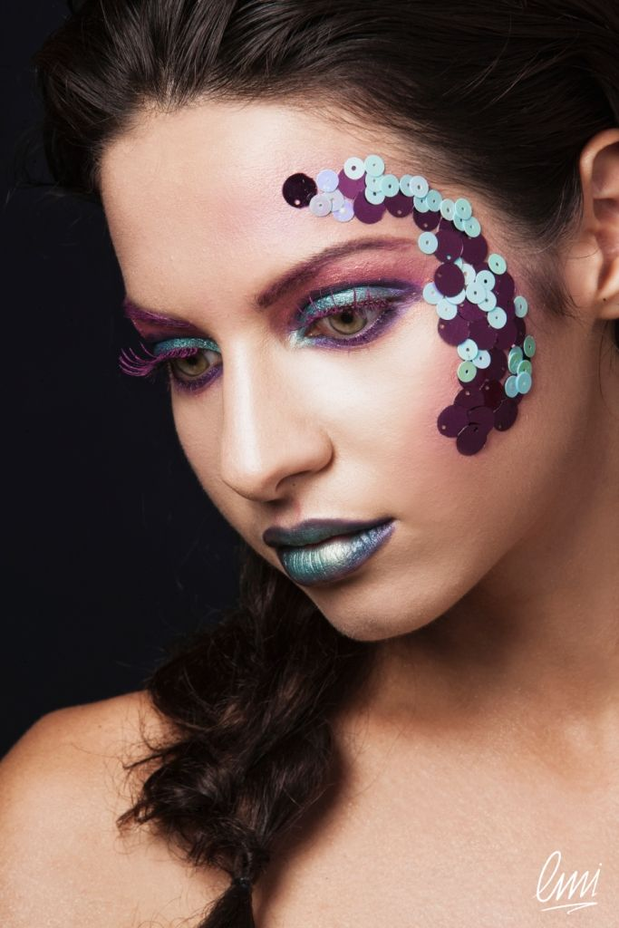 Beautiful Creative Make Up from LMI students! Couldn't be a mermaid's makeup?