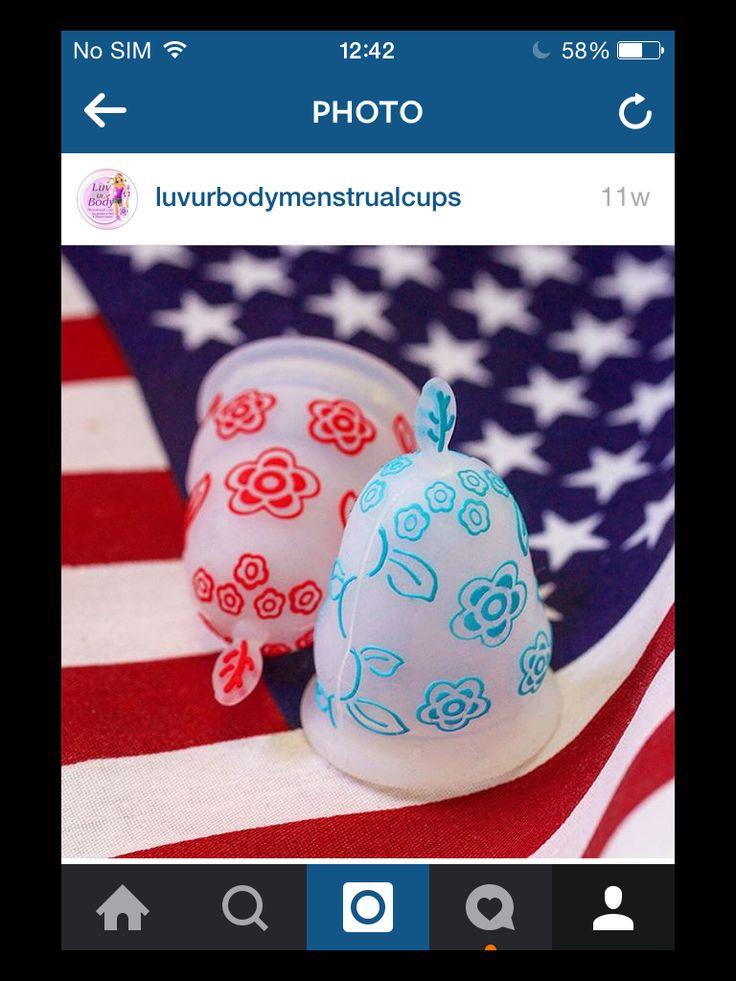 Small Sized Baby Blue & Red  #LuvUrBodyMenstrualCups www.luvur-body.com/onlinestore  #CoupeMenstruelle #Menstruationstasse #Coppettamestruale #CopaMenstrual #Menstruatiecup #менструальнаячаша #CopoMenstrual #menstrualnačašica #CupUp #coletormenstrual #kestoviapat #menskopp #vaidecopinho