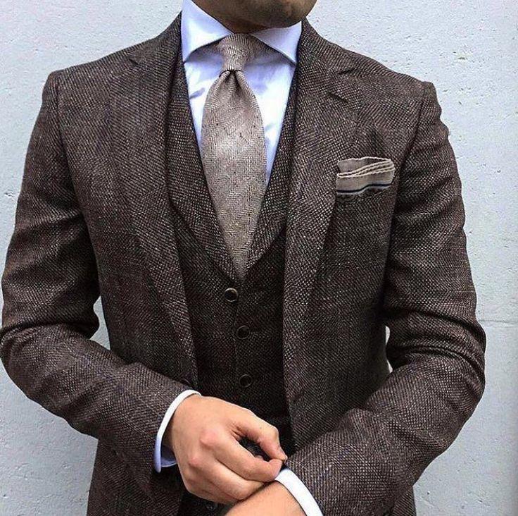 Brown tweed