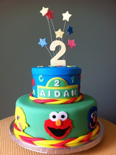 Sesame Street Cake By Busybee2203 on CakeCentral.com