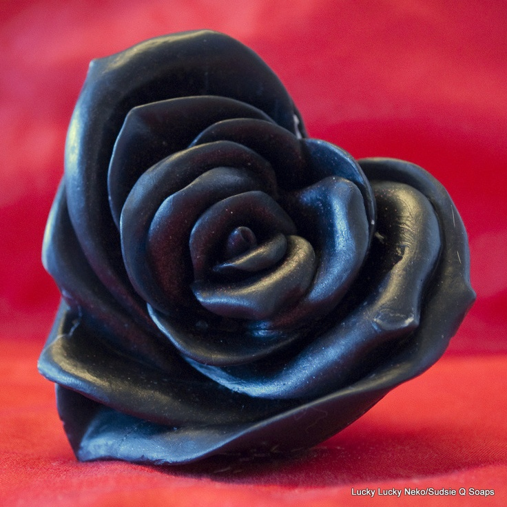 Three Black Rose Soaps Goth Dark Romance Homemade Soap Homemade Bath Glycerin Soap @ Sudsie Q Soaps - Goodsmiths, $13.50