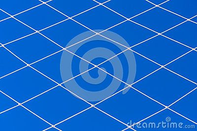 White string net on blue sky. Volleyball or soccer net detail. #background #texture #net #sport for sale