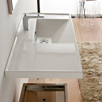 Bathroom Sink Scarabeo 3009 36x18 5 Avail No Hole For