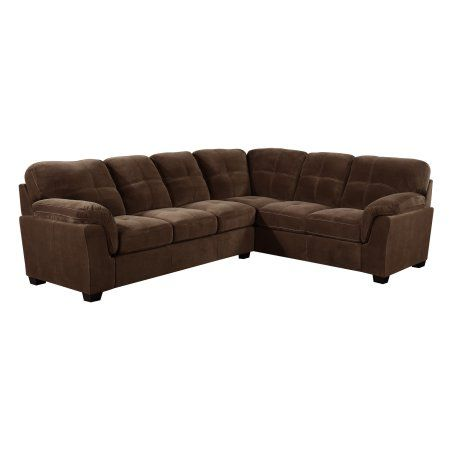 Emerald Home Ragoon U4280-11-12-05-K 2PC Sectional Mocha Brown U4280-11-12-05-K