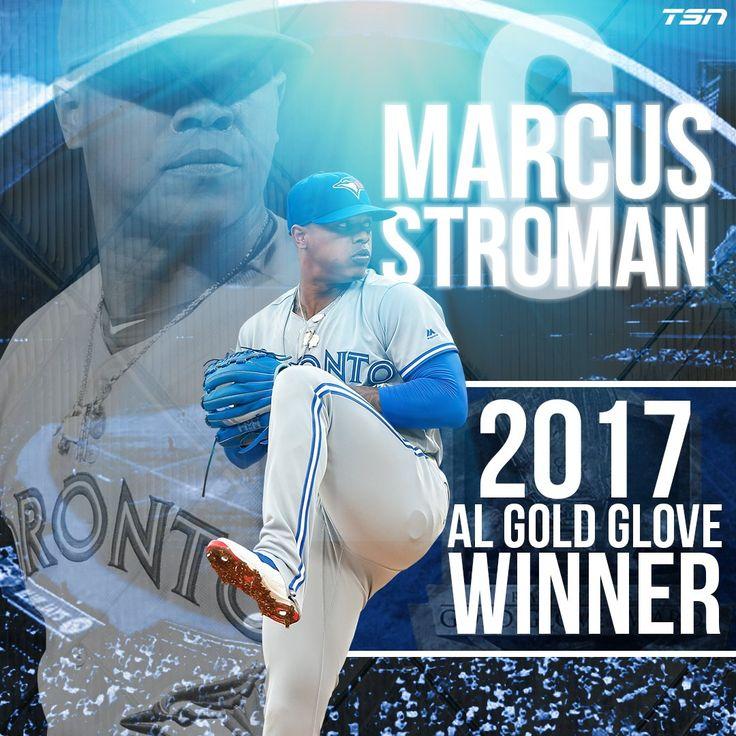 2017 AL Gold Glove Winner Toronto Blue Jays pitcher Marcus Stroman