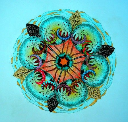 Mandalala No.92, COEXISTENCE OF DIVERSITY, 2014, 40 x 40 cm