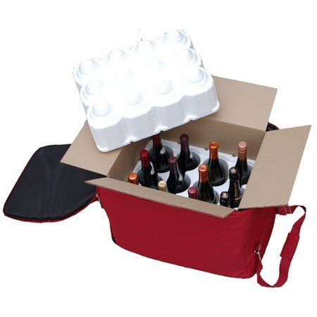 The Wine Check Complete Set | #3768 by Wine Check. $87.25. Ships next business day. Your wine is protected by Wine Check's patent-pending design, that encloses your wine in the included wine shipper box inside the secure padded case. The bag is lightweight (under 5 lbs.) and the attached wheels and strap make it easy to roll behind you. When packed with 12 bottles, The Wine Check stays under the 50 lb. airline weight limit for luggage! The Wine Check is collaps...