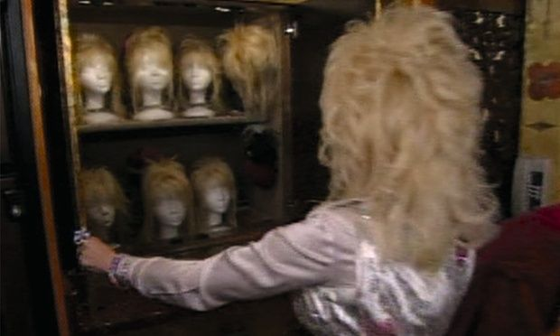 Dolly Parton and wigs