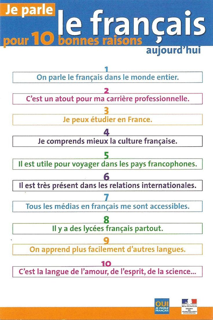 10 Reasons to learn French