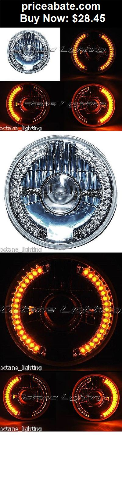 """Motors-Parts-And-Accessories: 7"""" Amber LED Projector Halogen Motorcycle Halo Blinker Turn Signal Headlight - BUY IT NOW ONLY $28.45"""