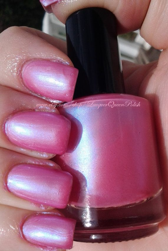 Pretty In Pink Nail Polish Frosty Shimmer Lacquer By Queen Www Lacquerqueenpolish Pinterest