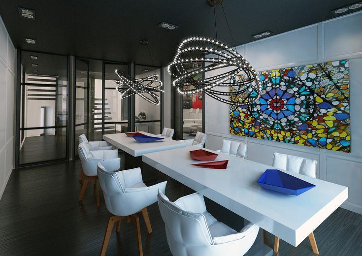 #interior #design #project for a #villa in #Moscow #RUSSIA