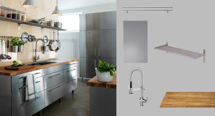 die besten 25 edelstahl arbeitsplatte ideen auf pinterest edelstahl arbeitsplatten edelstahl. Black Bedroom Furniture Sets. Home Design Ideas