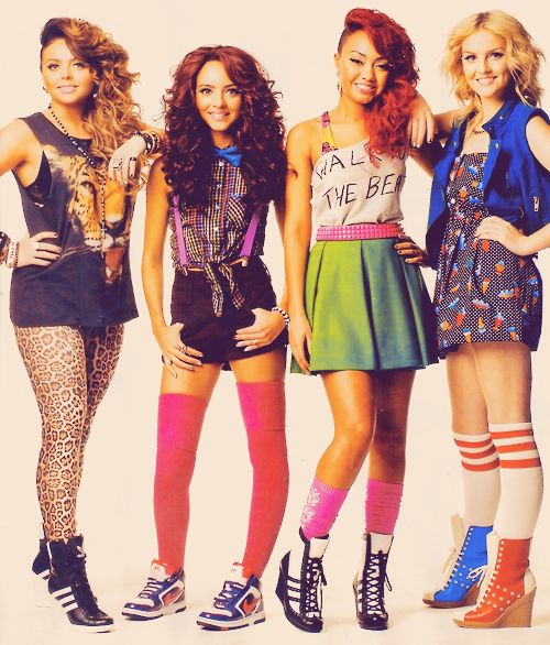 Little mix they are a british girl group that auditioned each as soloists on the british x-factor in 2011. They all got put together and they won! I found out about them through One Direction but now I'm a fan of them!
