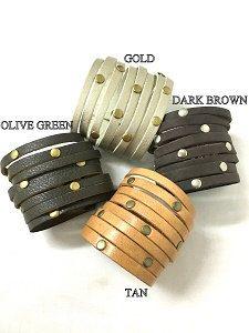 Ручной работы женские кожаные браслеты.Широкий от Kerenhandmade