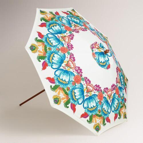 Bella Floral 9' Umbrella Canopy | World Market