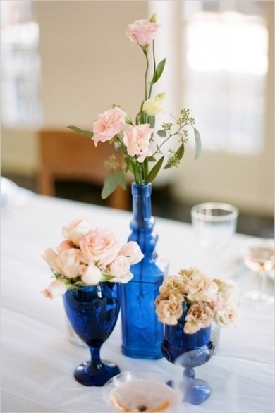 Best cobalt blue vase centerpieces images on pinterest