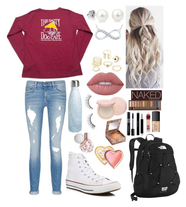 """School 53"" by ella-goodness on Polyvore featuring Converse, rag & bone/JEAN, S'well, The North Face, Lime Crime, Charlotte Russe, Urban Decay, Too Faced Cosmetics, Maybelline and NARS Cosmetics"