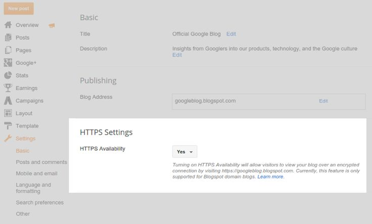 Blogger Buzz: HTTPS support coming to Blogspot