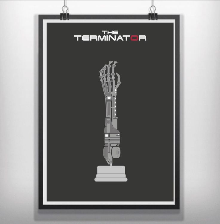 The Terminator  Minimalist Minimal Movie Film Poster Print Art in Art, Posters, Contemporary (1980-Now) | eBay!