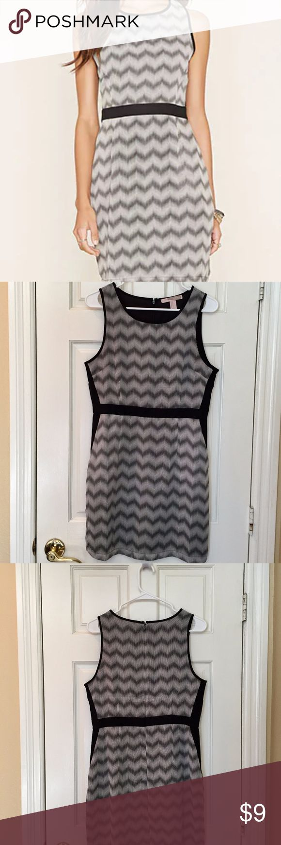 Forever 21 - Colorblocked Chevron Print Dress - M Colorblocked Chevron Print Dress Color: Black /Beige Condition: new without tags Size: Medium Forever 21 Dresses Mini
