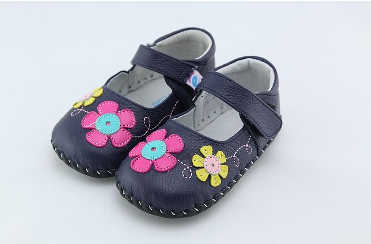 Freycoo | Spring | Baby Girl Shoes The super sweet Spring in Navy. Gorgeous soft sole leather baby girl shoes from Freycoo.