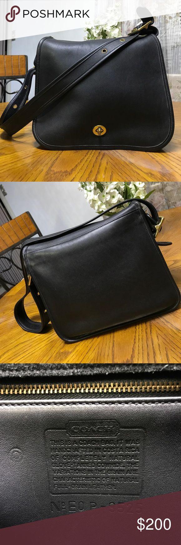 Authentic Coach Satchel Black & Gold real leather Coach satchel Coach Bags Satchels
