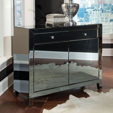 smoked mirrored furniture. Standard Furniture Plaza Buffet In Smoked Mirror - 19803 From BEYOND Stores Mirrored