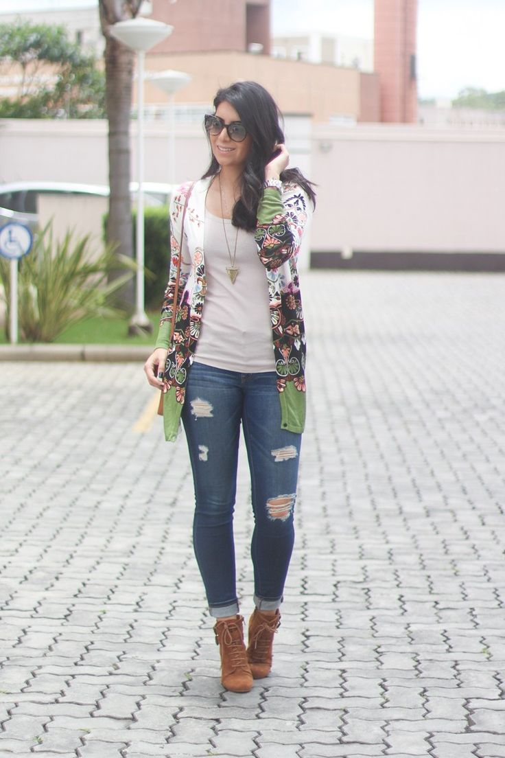 IMG_5098look cardigan florido bota de cano curto