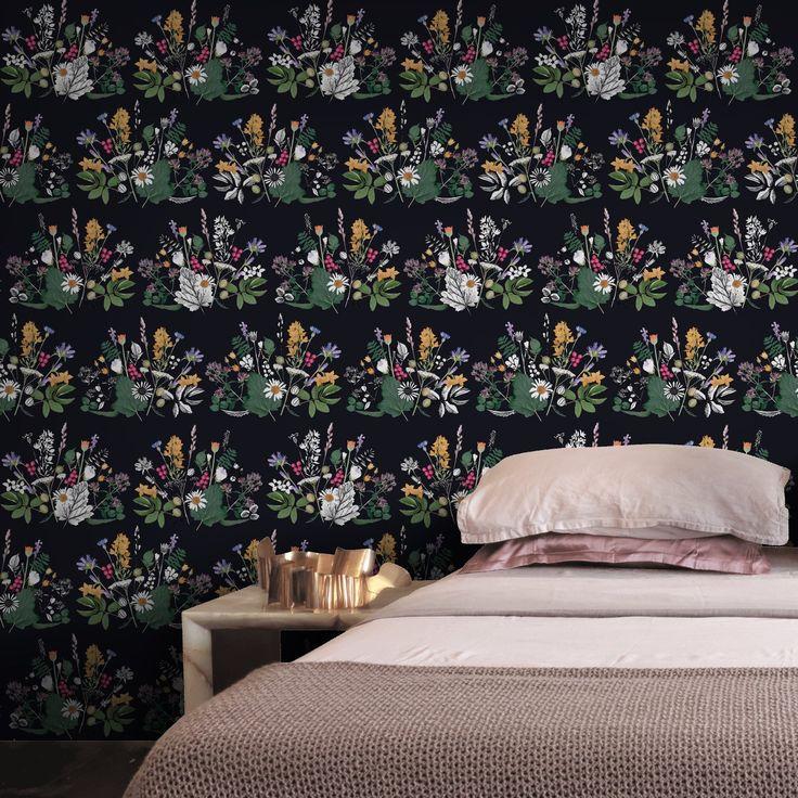 Backyard Daisies by Ammi Lahtinen on Feathr.com  #patternsfromagency #patternsfromfinland #pattern #patterndesign #surfacedesign#ammilahtinen