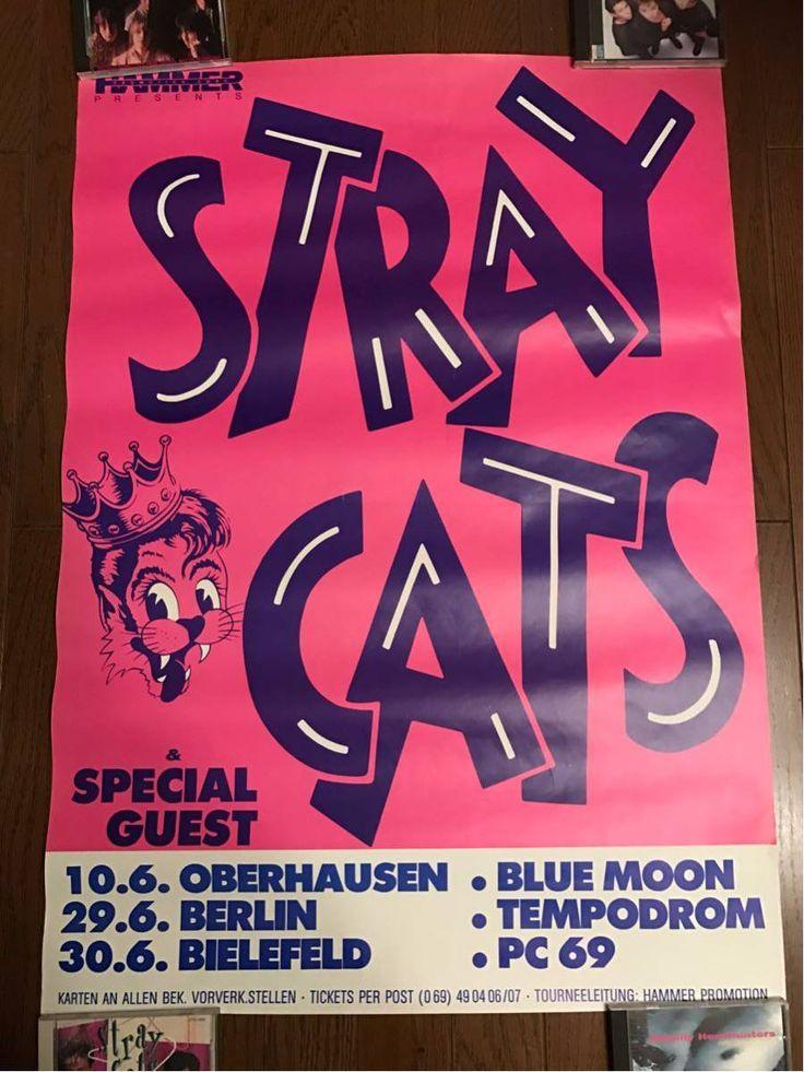 ストレイキャッツ ポスター ブライアンセッツァー ロカビリー サイコビリー クリームソーダ クラッシュ brian setzer stray cats damned_画像1