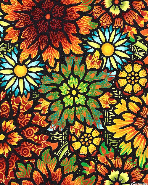 Jason Yenter - Paradise - Stained Glass Visions - Quilt Fabrics from www.eQuilter.com