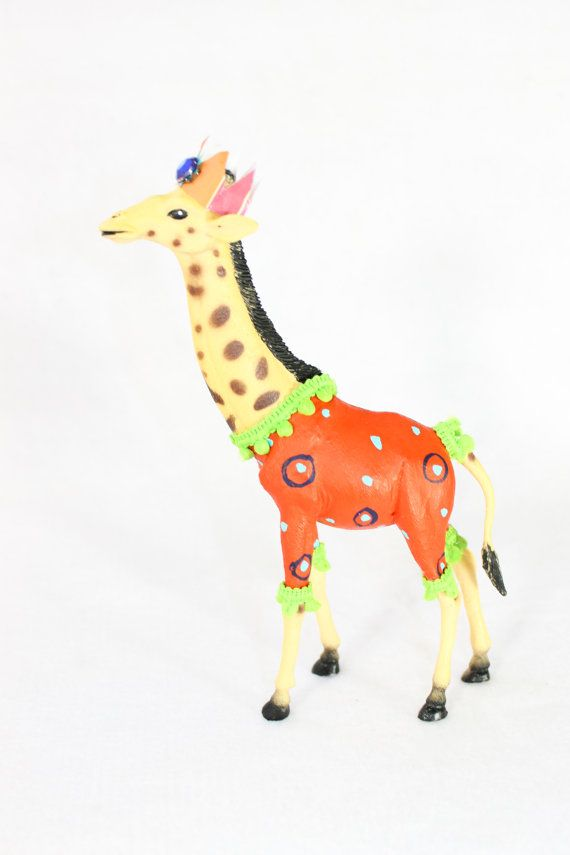 Party Animal Lenny The Giraffe painted carnival by PaintedParade $20