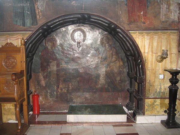 Cetatuia Monastery Church, Gheorghe Duca and his dughter Maria tomb