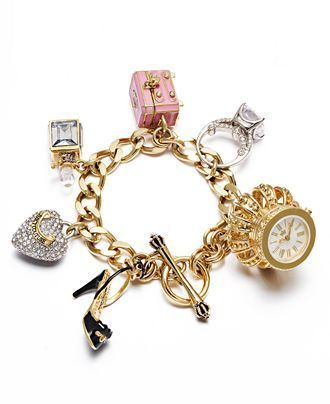 Juicy Couture watch/charm bracelet. I will be ordering my juicy couture charm bracelet SOON! #womanbracelets