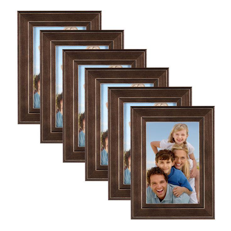 DesignOvation Kieva Solid Wood Picture Frame Set (Espresso - 11x14/8x10), Brown (Glass)